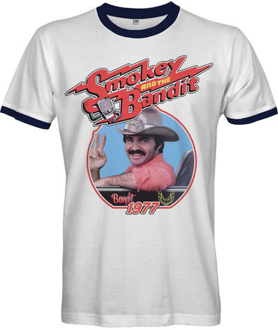SMOKEY,AND,THE,BANDIT,Movie,T-shirt,smokey and the bandit TV Retro 80s retro Fan t-shirt cult movie film 1977 American road action comedy film Burt Reynolds