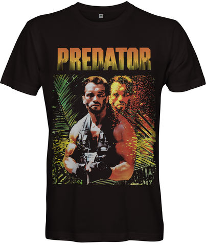 PREDATOR,Movie,Poster,T-shirt,PREDATOR TV Retro 80s retro Fan t-shirt movie film 2018 American science fiction action film Arnie Schwarzenegger