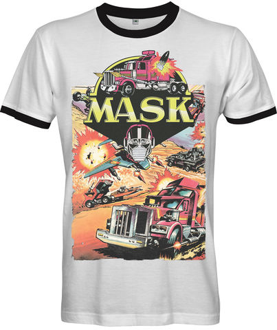 M.A.S.K,80s,Cartoon,Poster,T-shirt,mask TV Retro 80s Fan t-shirt movie M.A.S.K. Mobile Armored Strike Kommand animated television