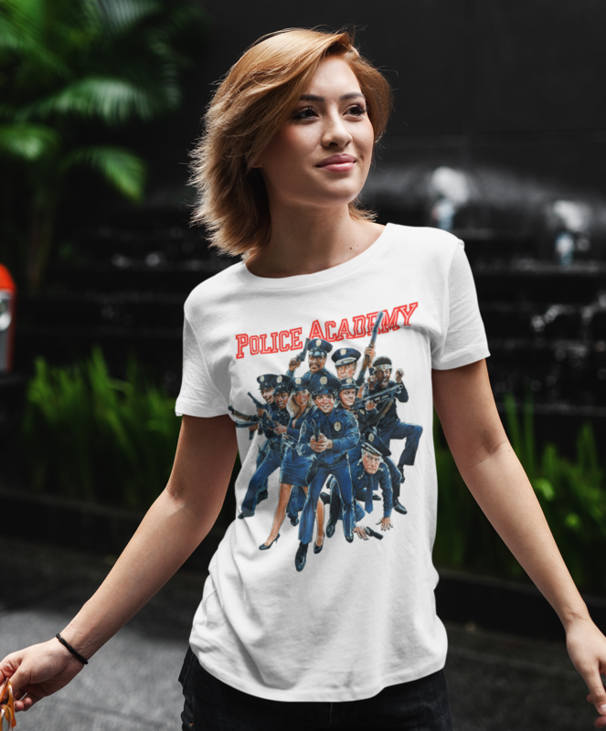 POLICE ADADEMY Film Poster T-shirt - Ladies - product images  of