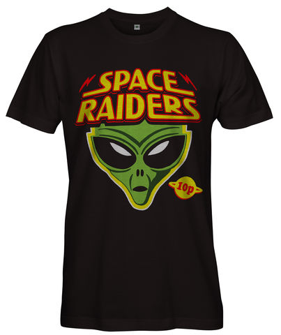 Space,Raiders,Ladies,T-shirt,-,Alien,Snacks,crisps 10p retro space raiders Alien Snacks