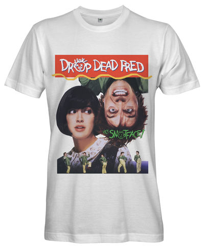 DROP,DEAD,FRED,Movie,Poster,T-shirt,-,Ladies,drop dead fred TV Retro 80s retro Fan t-shirt cult movie film Rick Mayall