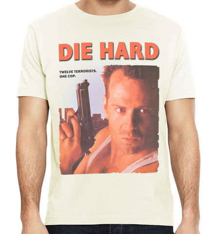 DIE,HARD,T-Shirt,-,Featuring,JOHN,McCLANE,80s movie Die Hard John McClane fan t-shirt retro tees