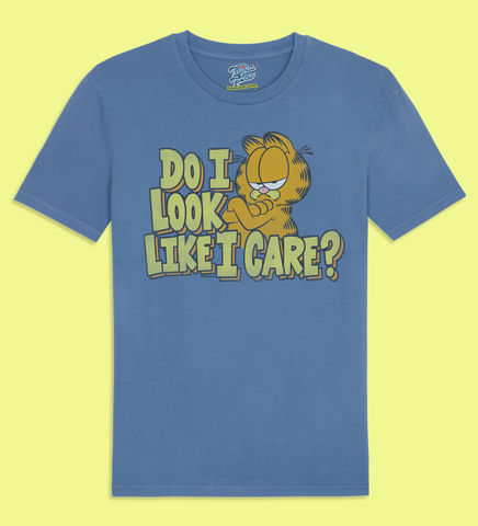 Garfield,-,Do,I,Look,Like,Care,Official,Licensed,Men's,T-Shirt,by,Famous,Forever,Garfield Friends Odie 70s 80s 90s retro vintage t shirt pizza lasagne lazy cool cat feline attitude Famous Forever