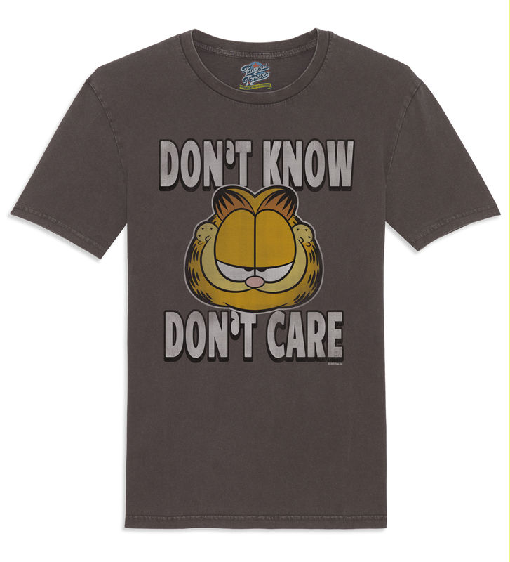 Garfield - Don't Know Don't Care - Official Licensed Men's T-Shirt  by Famous Forever - product images  of