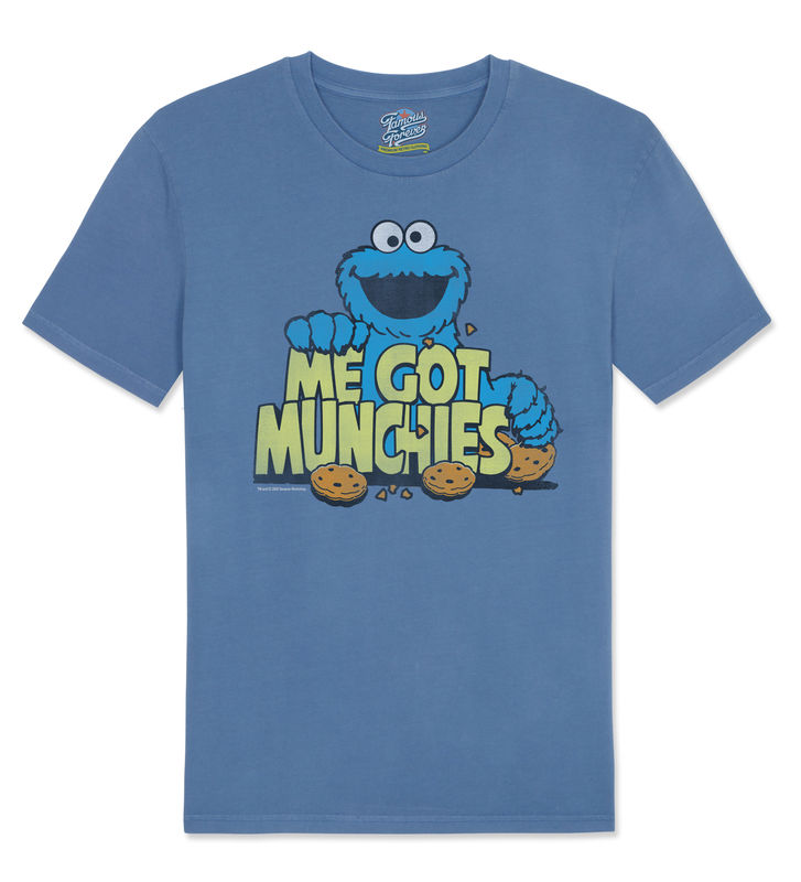 Sesame Street Cookie Monster – Me Got Munchies - Official Licensed T-Shirt  by Famous Forever - product images  of