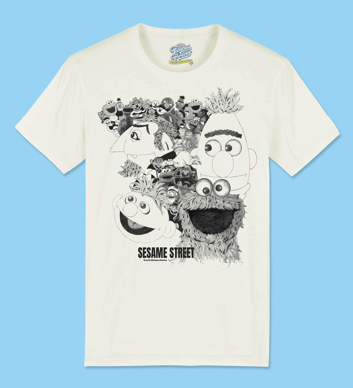 Sesame Street Revolver Cover - Official Licensed T-Shirt  by Famous Forever - product images  of