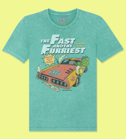 Sesame,Street,–,The,Fast,And,Furriest,-,Official,Licensed,T-Shirt,by,Famous,Forever,Sesame Street Friends Bert Ernie Elmo Cookie Monster Big Bird 70s 80s 90s retro vintage t shirt  Famous Forever
