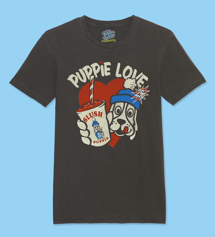 Slush,Puppie–,Puppie,Love,-,Official,Licensed,T-Shirt,by,Famous,Forever,Slush Puppie Cool As Ice 70s 80s 90s retro vintage t shirt  Famous Forever