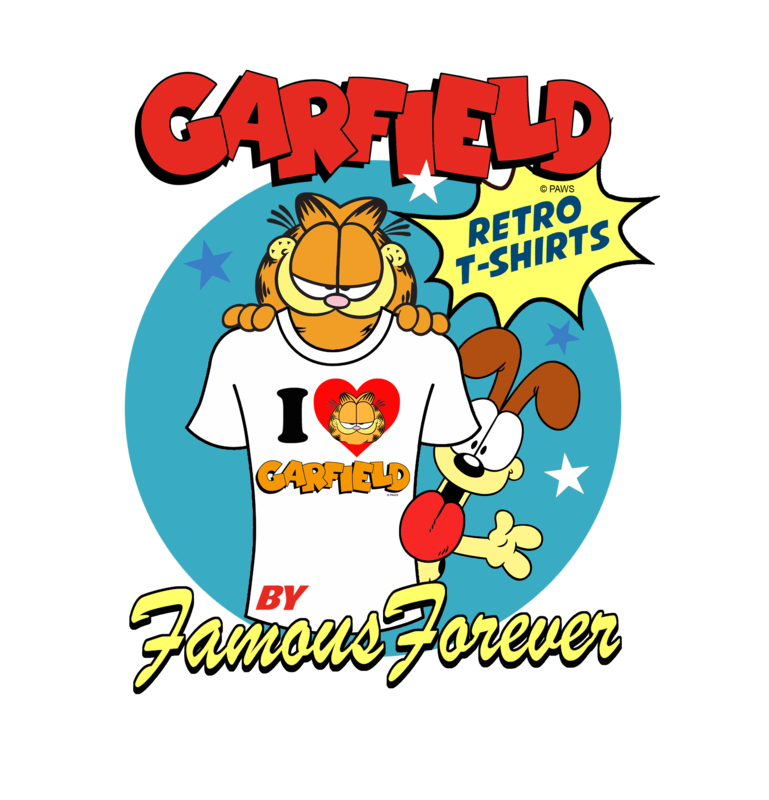 Garfield Retro Logo Official Licensed Men's T-Shirt by Famous Forever - product images  of