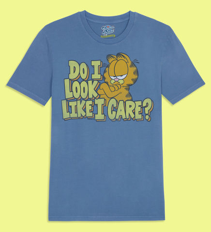 Garfield,-,Do,I,Look,Like,Care,Official,Licensed,Ladies,T-Shirt,by,Famous,Forever,Garfield Friends Odie 70s 80s 90s retro vintage t shirt pizza lasagne lazy cool cat feline attitude Famous Forever