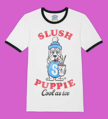 Slush,Puppie,–,Cool,As,Ice,-,Official,Licensed,Ladies,T-Shirt,by,Famous,Forever,Slush Puppie Cool As Ice 70s 80s 90s retro vintage t shirt  Famous Forever