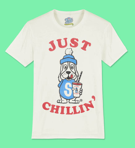 Slush,Puppie,–,Just,Chillin,-,Official,Licensed,Ladies,T-Shirt,by,Famous,Forever,Slush Puppie Cool As Ice 70s 80s 90s retro vintage t shirt  Famous Forever