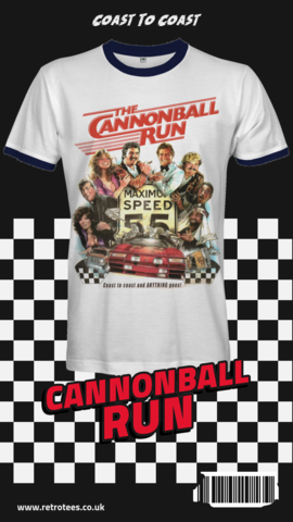 Cannonball,Run,T-shirt,cannonball run t-shirt Burt Reynolds smokie and the bandit movie retro