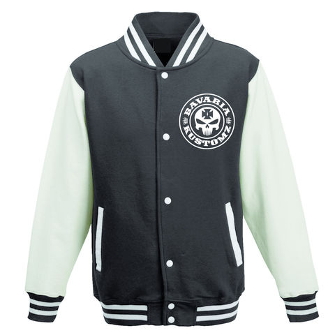 BLACK,Jacke Bavaria Kustomz Brotherhood College Kids Kinder