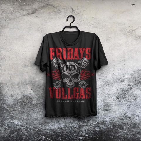 VOLLGAS,SHIRT Brotherhood bavaria kustomz German ONE 2018