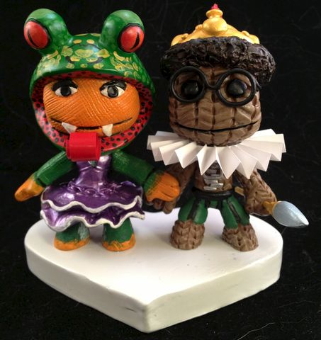 Little,Big,Planet®,Cake,Toppers,Little Big Planet, sackboy, sackgirl, sackpeople, sculpture, custom, wedding, cake topper