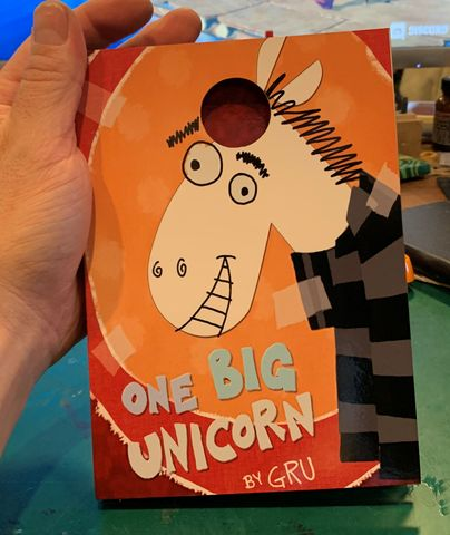 One,Big,Unicorn-,Prop,Reproduction,Despicable Me, prop, replica, one big unicorn, book,