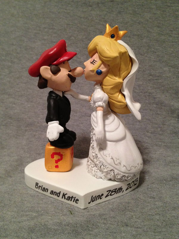 mario wedding cake topper mario amp princess cake topper paul pape designs 17154