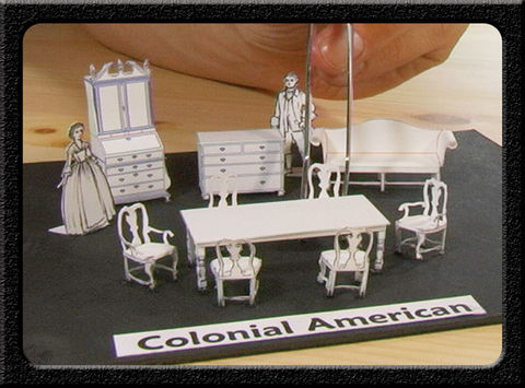 Colonial,American,Pop-Out Furniture, Pop Out Furniture