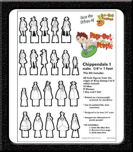 Chippendale 1 POP-OUT PEOPLE - product images