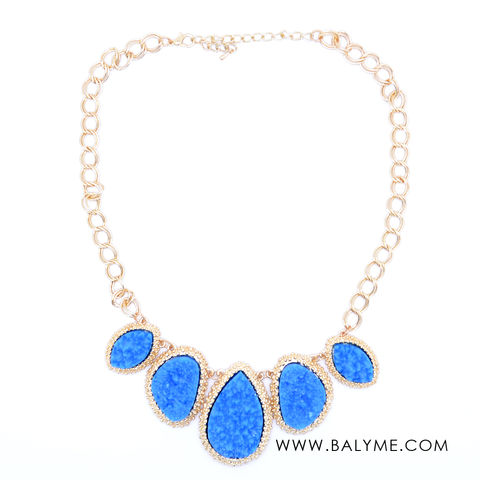 72b438f75 MARRAKESH NECKLACE DEEP BLUE/ COLLAR AZUL ELECTRICO - product images of
