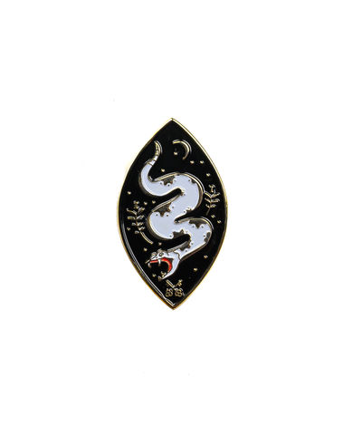 Dance,of,the,Serpent,pin, lapel pin, metal, snake, serpent, the serpents, patch, dance