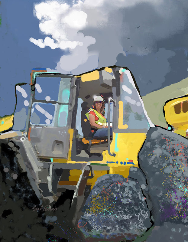 Women Operating Caterpillar - product images