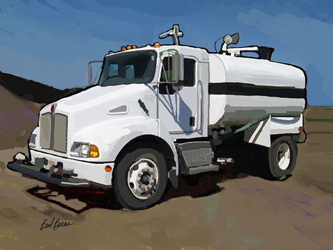 Kenworth,T300,Water,Truck,Kenworth T300 Water Truck, america, trenches,catapillar,catapiller,trencher,construction artist, bulldozers, construction art, cement, concrete, concrete work, concrete workers, big iron, ironworkers, drilling, earth movers, buil