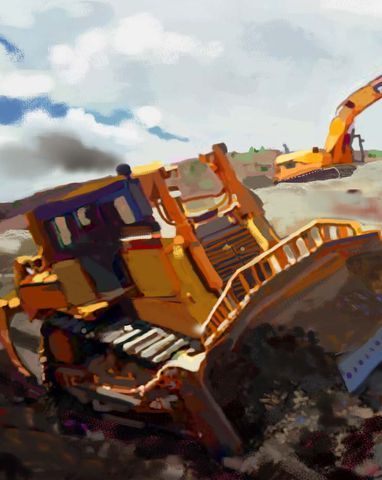 hollister,John Deere Backhoe Loader, america, trenches,caterpillar, catapillar,catapiller,trencher,construction artist, bulldozers, construction art, cement, concrete, concrete work, concrete workers, big iron, ironworkers, drilling