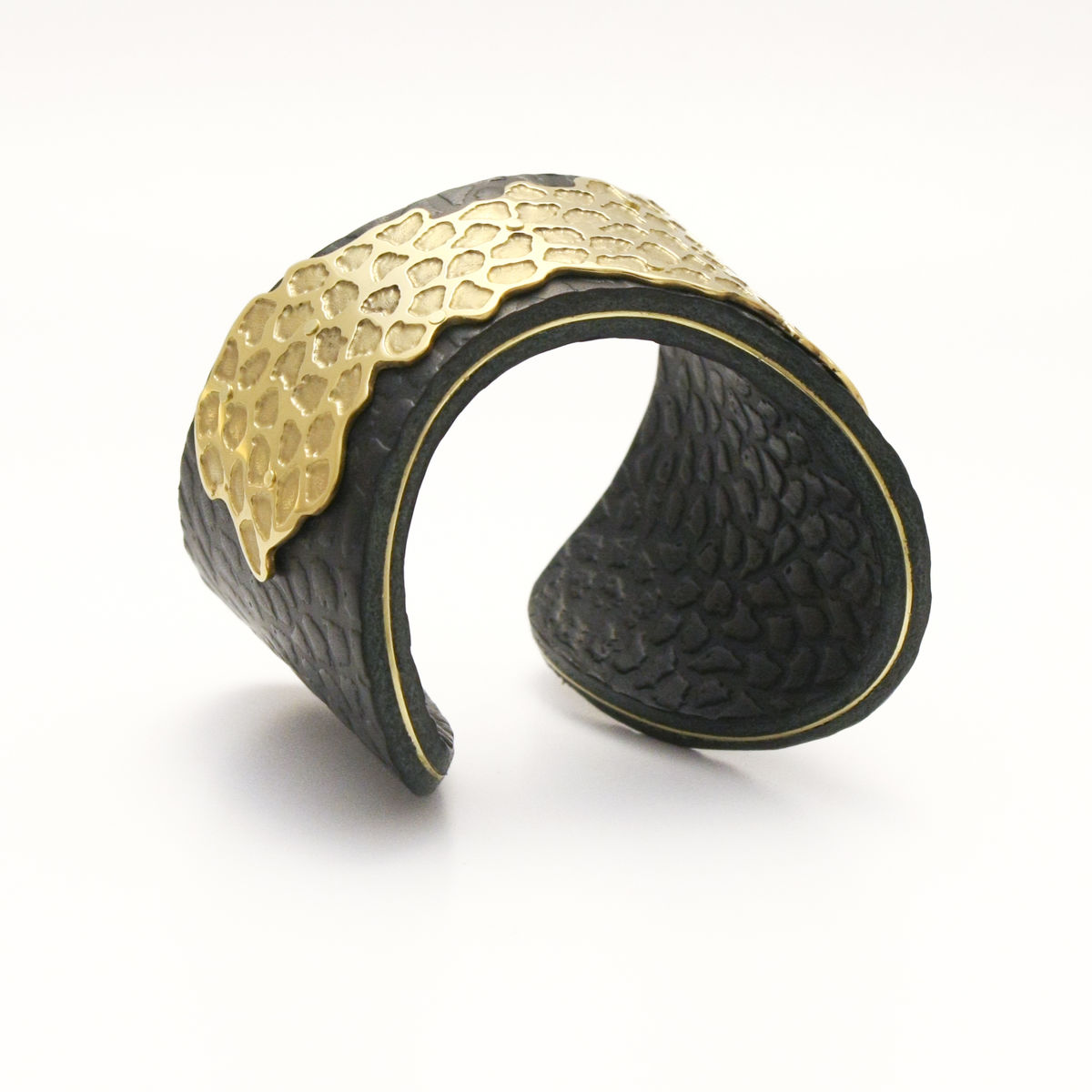 Black and Gold 'Skin' Overlay Cuff - Sara Gunn - product images  of