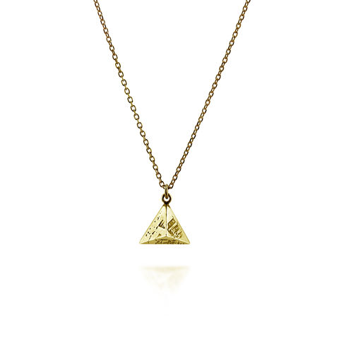 Mini,SOUVENIR,Pyramid,Pendant,-,gold,plated,silver,london, jewellery, earrings, stud, stud earrings, pyramid, fashion jewellery, custom made, gold, silver
