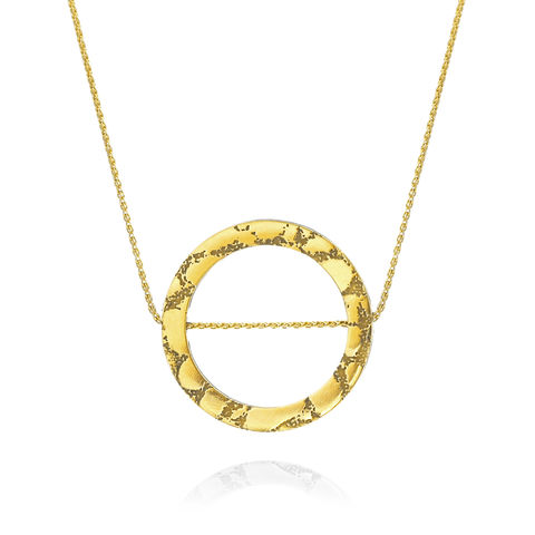 SKIN,textured,circle,slider,pendant,textured pendant, circle pendant, slider necklace, skin textured jewellery, animal print jewellery, gold necklace, gold pendant, leather jewellery, leather and metal jewellery, leather pendant, gold and black pendant