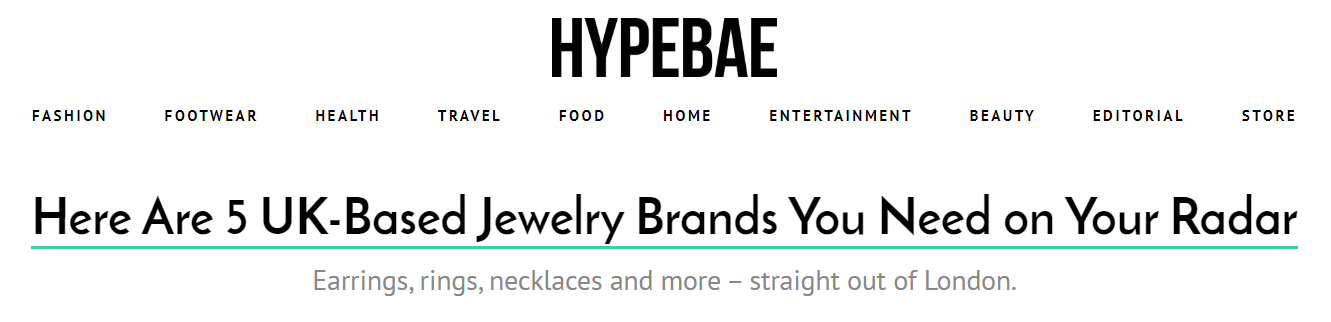 Hypebae - 5 UK based jewelry brands you need on your radar