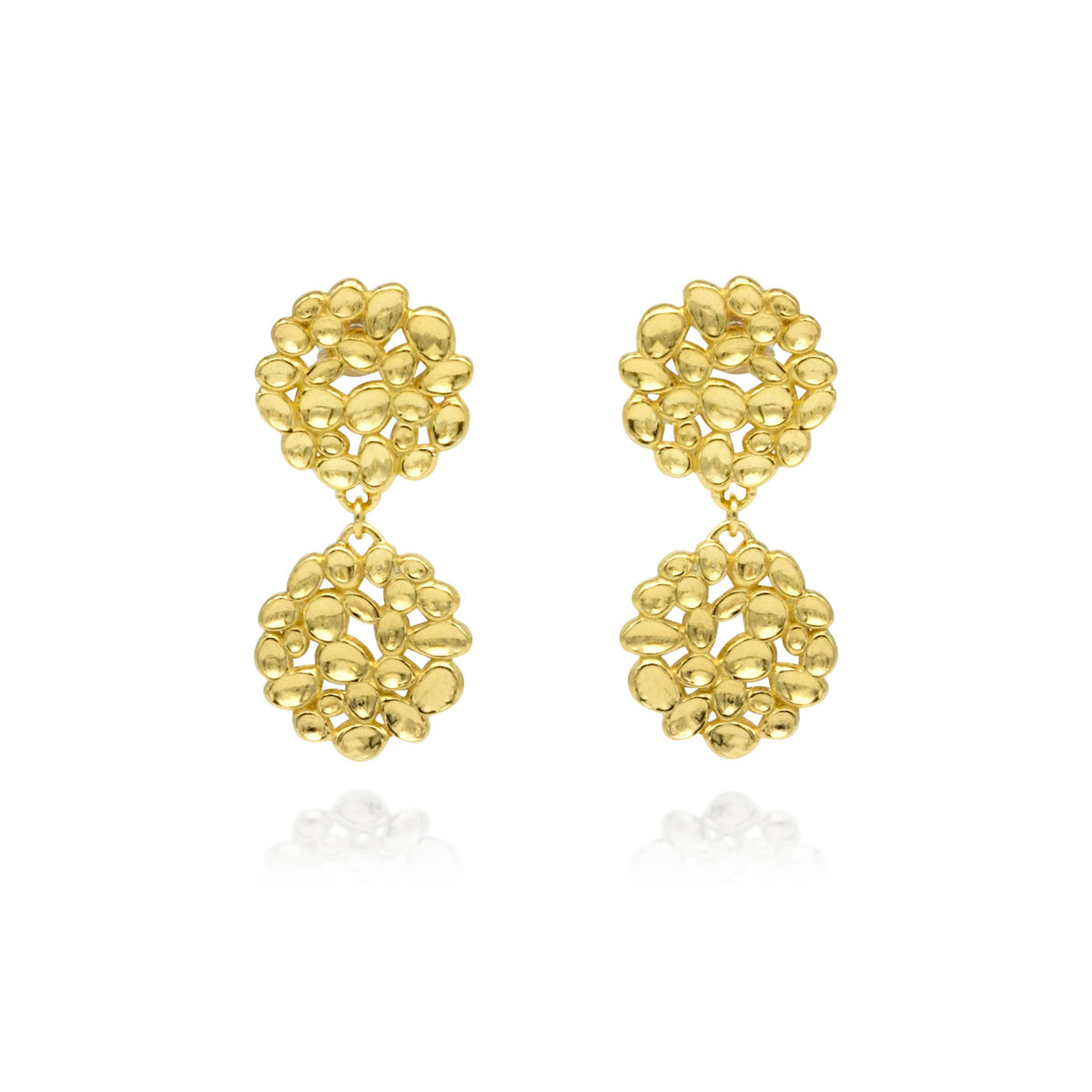 SHIMMER Array drop earrings - gold plated sterling silver - product images  of