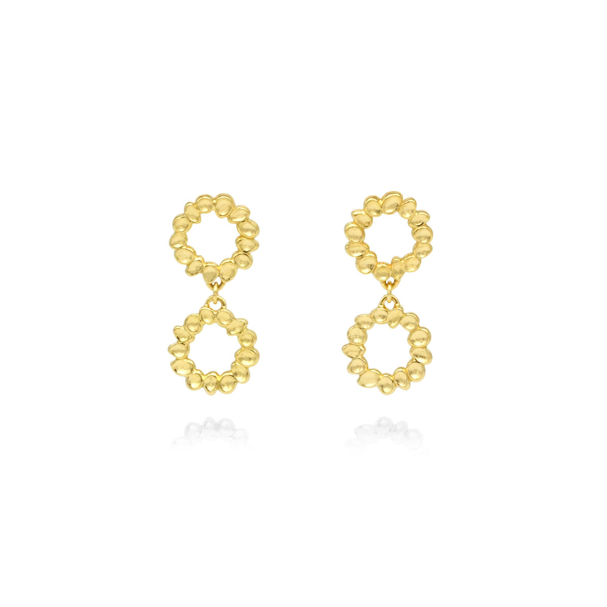 SHIMMER mini drop earrings - gold plated sterling silver - product images  of