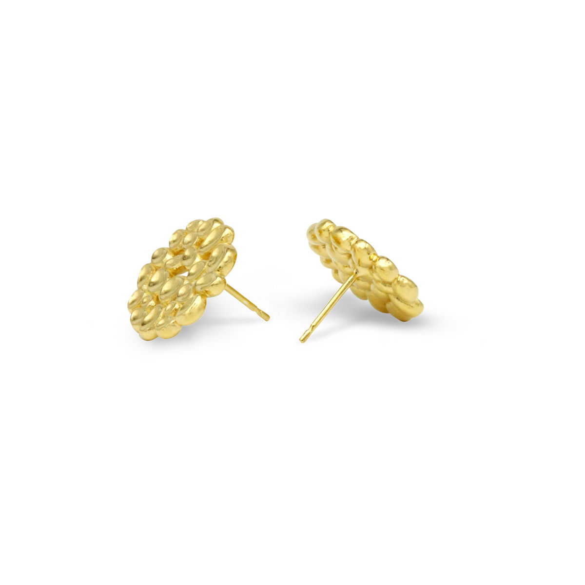 SHIMMER Array stud earrings - gold plated sterling silver - product images  of