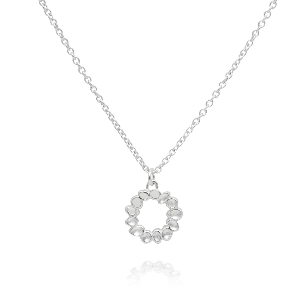 SHIMMER mini circle pendant - sterling silver - product images  of