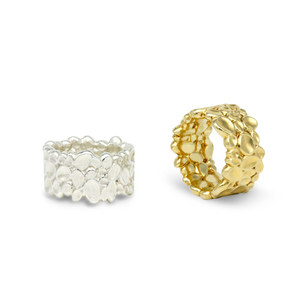 SHIMMER textured wide ring - product images  of