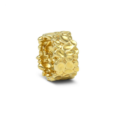 SHIMMER,textured,wide,ring, textured ring, texture, gold plated, organic, demi-fine jewellery, sterling silver,