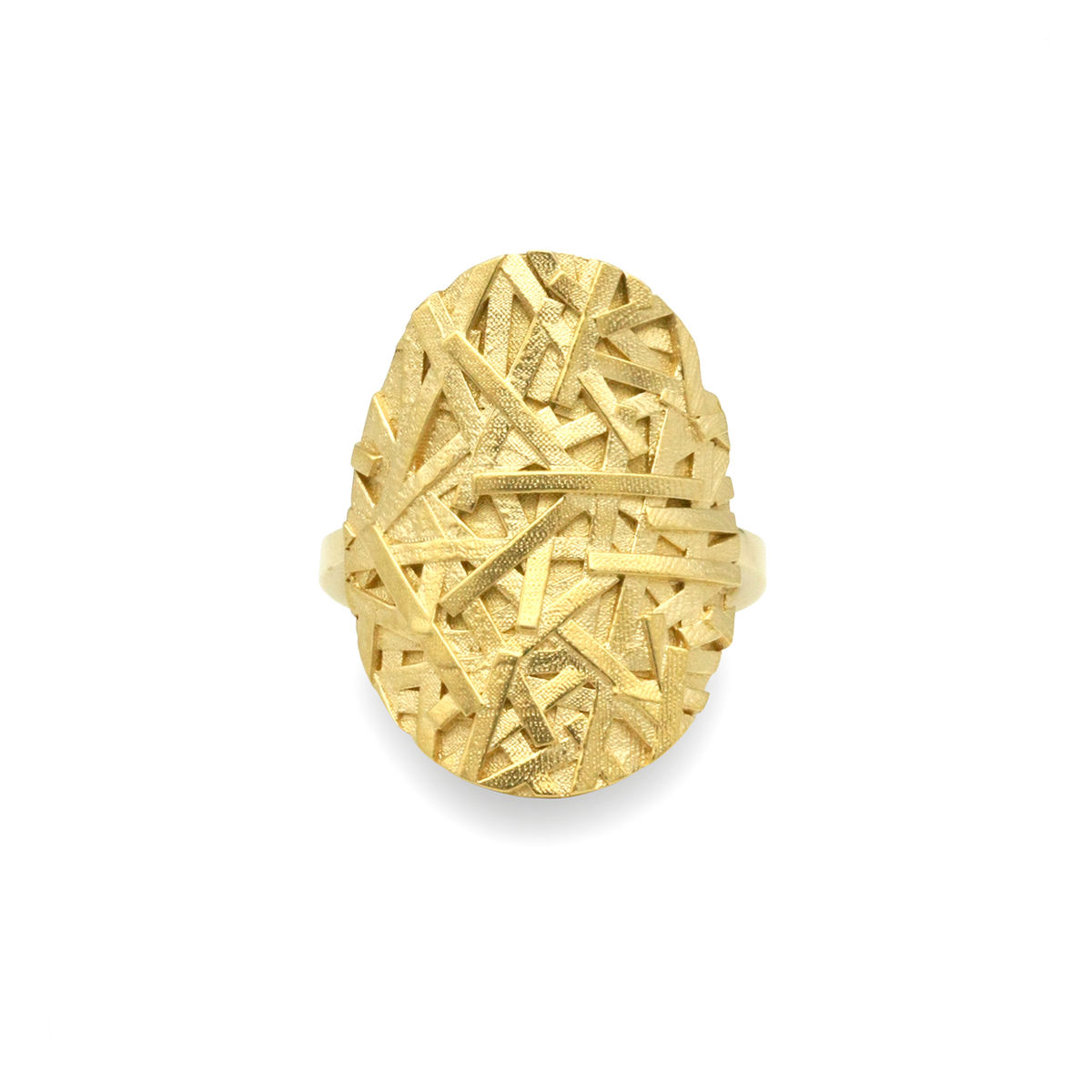 MERGE Large oval ring - gold-plated sterling silver - product images  of