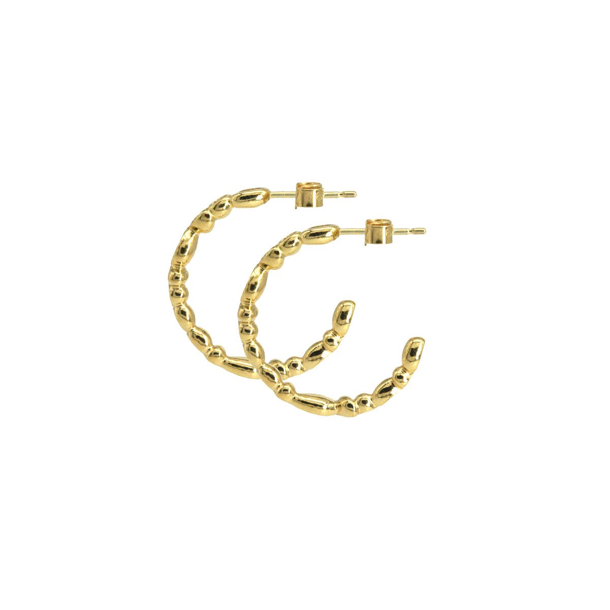 SHIMMER small hoop earrings - gold plated sterling silver - product images  of