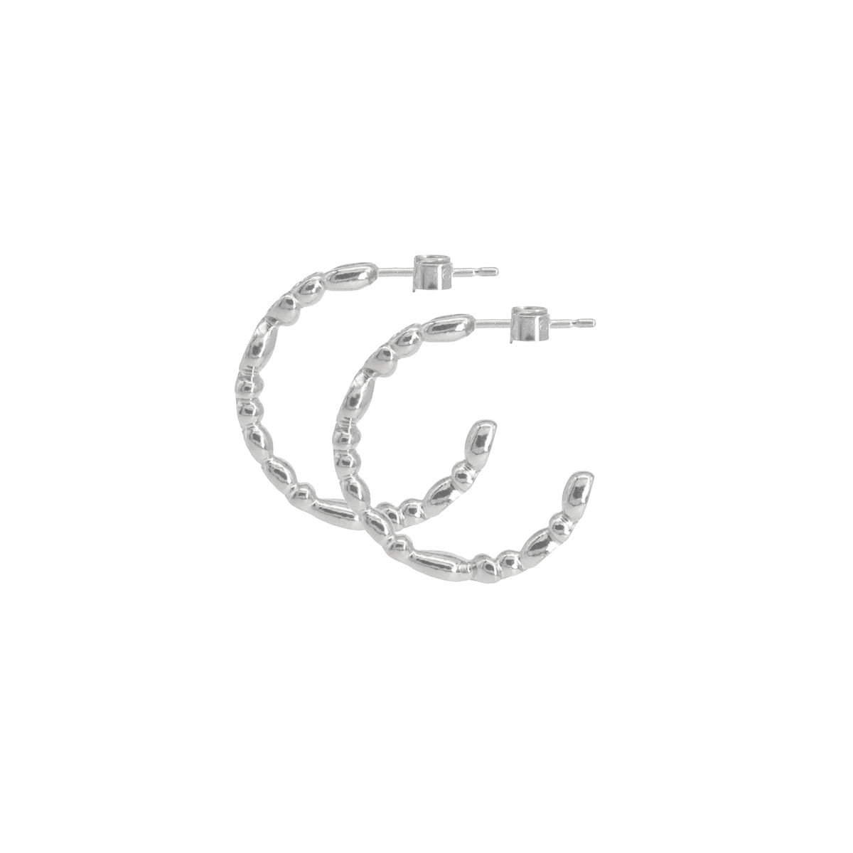 SHIMMER small hoop earrings - sterling silver - product images  of