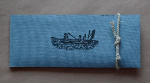 The,Last,Voyage,paperboat handfolded artists book bookbinding hemp