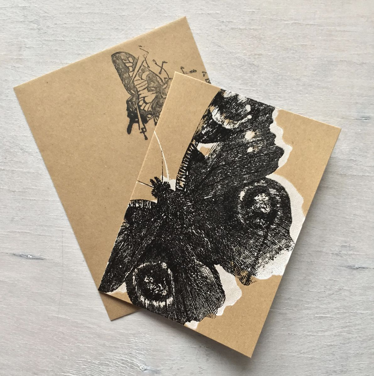 Black Peacock greetings card - product image