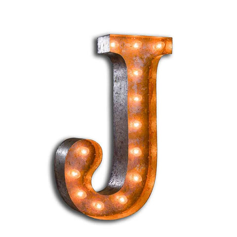 Letter,Light,J,letter Lights vintage letter lights metal