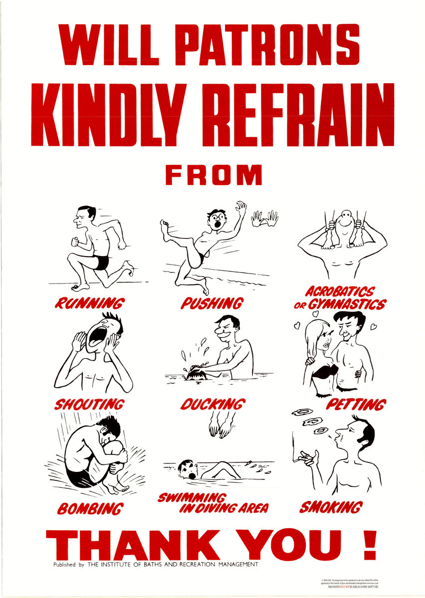 Vintage Swimming Pool Rules Poster - product images  of