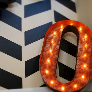 Letter,Light,O,Vintage Letter Lights industrial