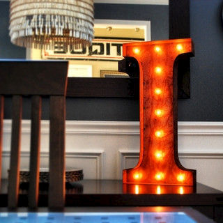 Letter,Light,I,Letter Lights industrial Large Metal Vintage