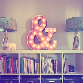 Ampersand,Letter,Light,Sign,Metal Ampersand Light industrial Homewares letter lights